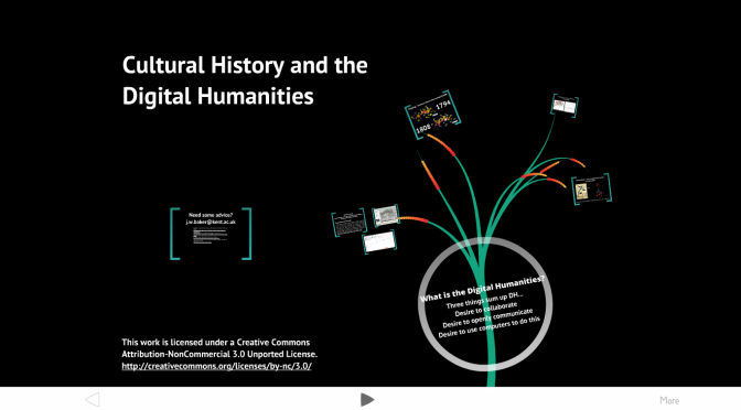 Week 6: Cultural History and the Digital Humanities