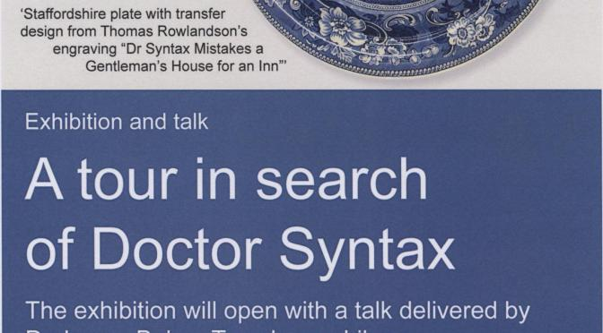 Week 10: A tour in search of Dr Syntax